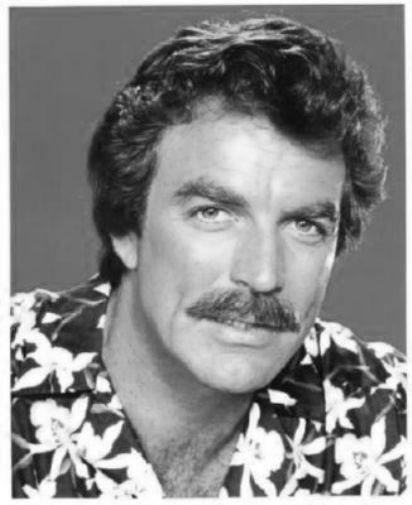 Tom Selleck black and white poster