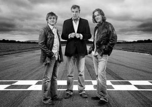 Top Gear black and white poster