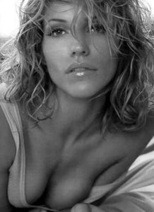 Tricia Helfer black and white poster