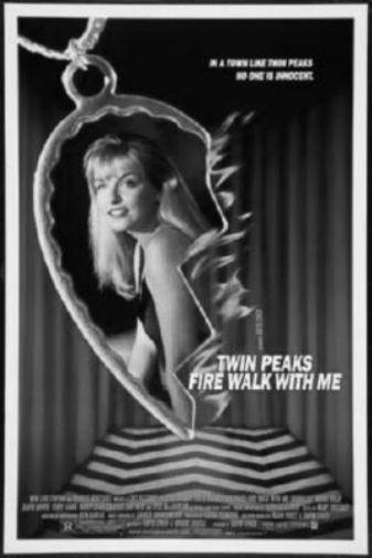 Twin Peaks black and white poster