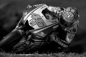 Valentino Rossi black and white poster
