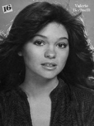 Valerie Bertinelli black and white poster