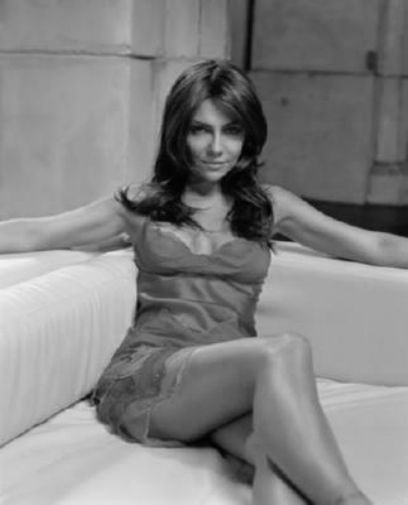 Vanessa Marcil black and white poster