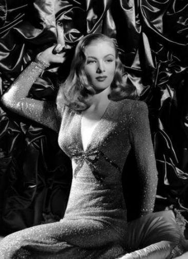 Veronica Lake black and white poster