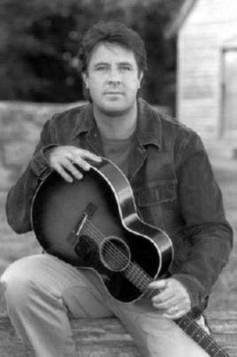 Vince Gill black and white poster