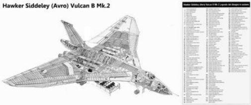 Vulcan Cutaway poster tin sign Wall Art