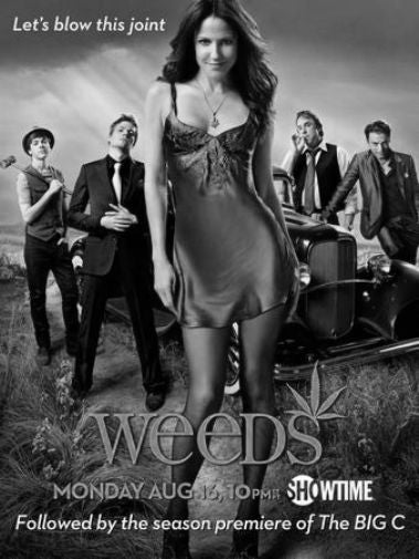 Weeds black and white poster