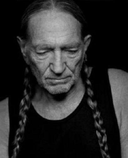 Willie Nelson black and white poster