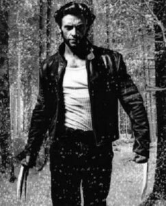 Hugh Jackman black and white poster