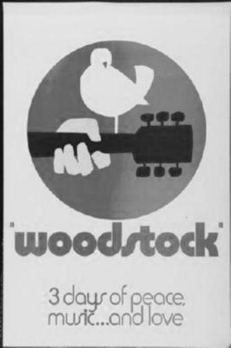 Woodstock poster tin sign Wall Art