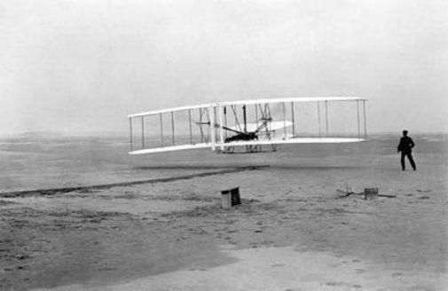 Wright Brothers black and white poster