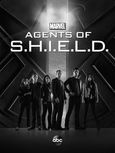 Agents Of Shield Poster Black and White Mini Poster 11