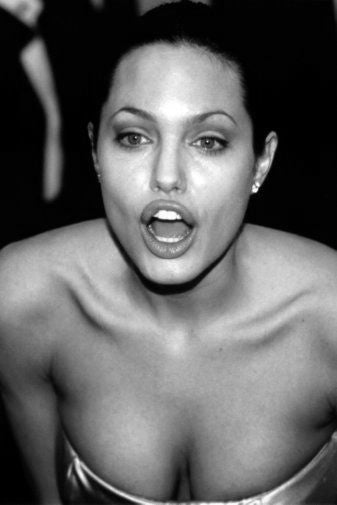 Angelina Jolie black and white poster