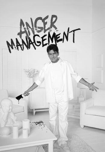 Anger Management Charlie Sheen Poster Black and White Poster 16