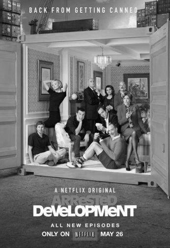 Arrested Development Poster Black and White Poster 16