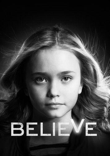 Believe black and white poster