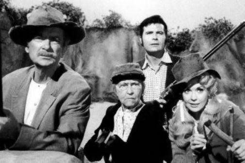 Beverly Hillbillies black and white poster