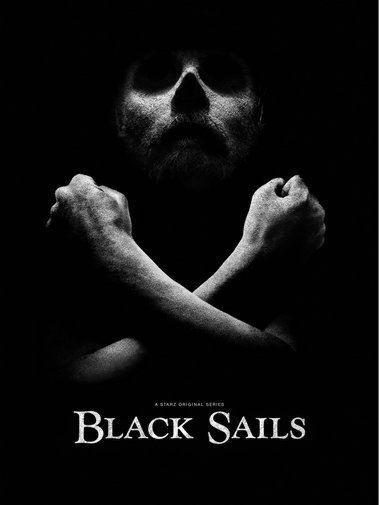 Black Sails black and white poster
