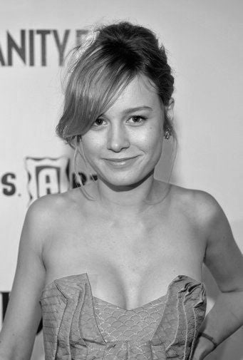 Brie Larson Poster Black and White Mini Poster 11
