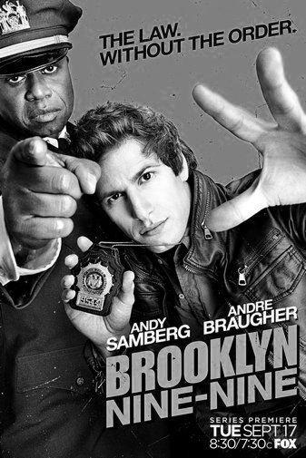 Brooklyn Nine Nine black and white poster