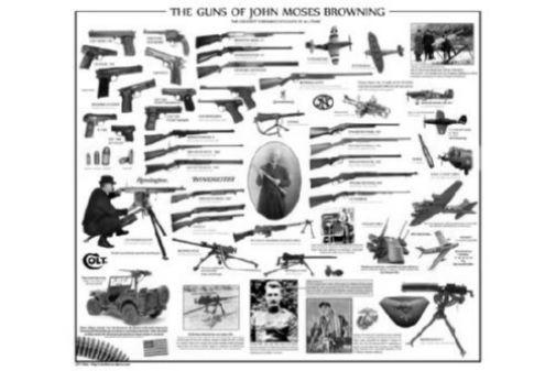 Guns Of John Moses Browning black and white poster
