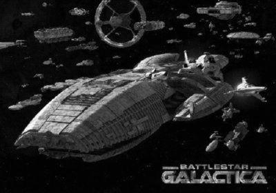 Battlestar Galactica Fleet Poster Black and White Poster 27