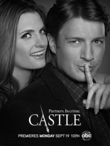 Castle black and white poster