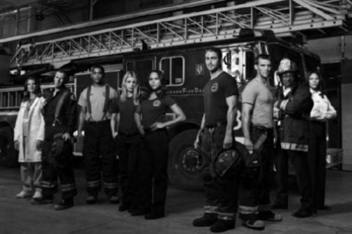 Chicago Fire Poster Black and White Mini Poster 11