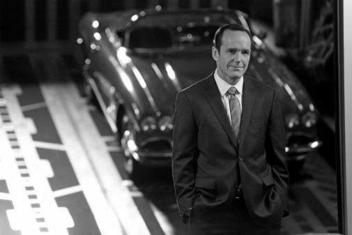 Clark Gregg black and white poster