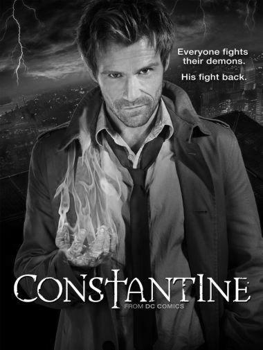 Constantine black and white poster