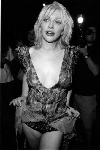 Courtney Love Poster Black and White Mini Poster 11
