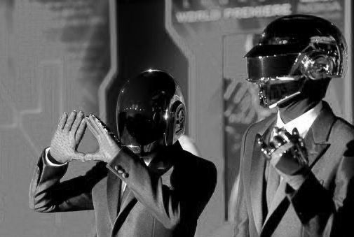 Daft Punk Poster Black and White Mini Poster 11