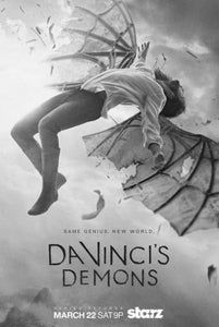 "Davincis Demons Poster Black and White Mini Poster 11""x17"""