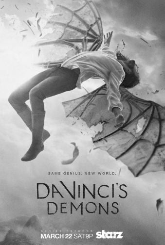 Davincis Demons Poster Black and White Mini Poster 11