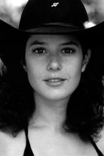 Debra Winger black and white poster