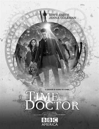 Doctor Who black and white poster