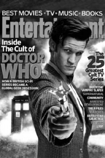 Dr Who Celebrity Weekly Cover black and white poster