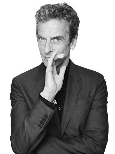 Peter Capaldi Poster Black and White Mini Poster 11