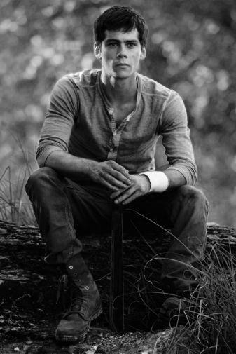 Dylan Obrien black and white poster