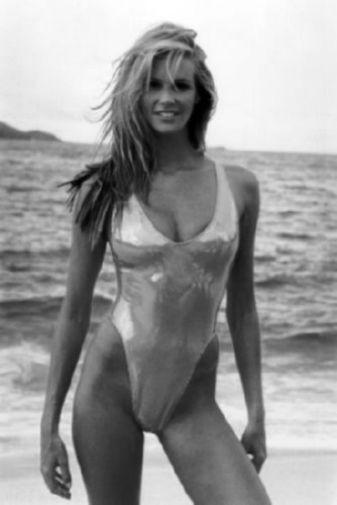Elle Macpherson black and white poster