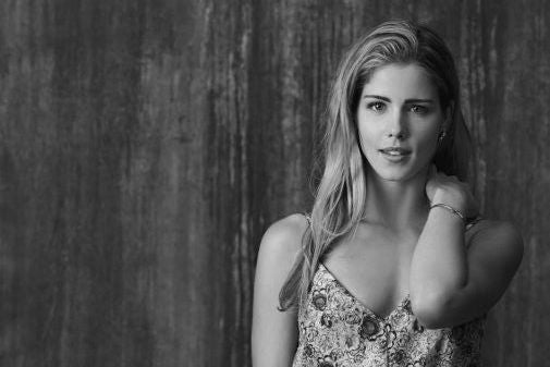 Emily Bett Rickards Poster Black and White Mini Poster 11