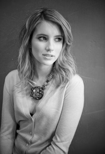 Emma Roberts Poster Black and White Mini Poster 11