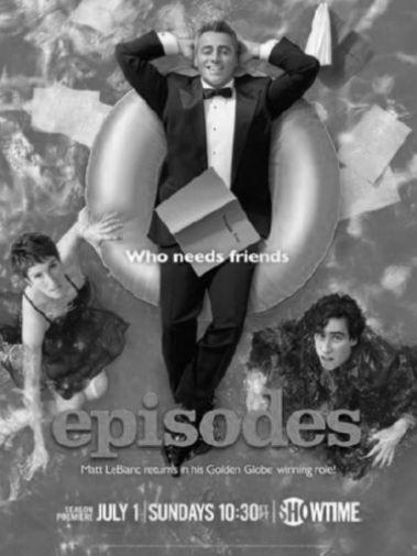 Episodes black and white poster
