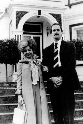 Fawlty Towers black and white poster
