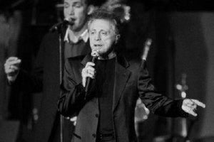 Frankie Valli black and white poster