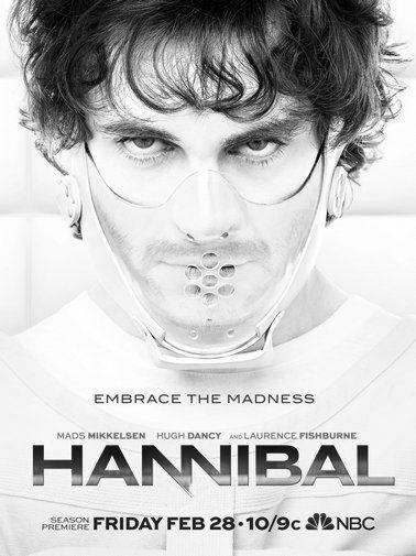 Hannibal black and white poster