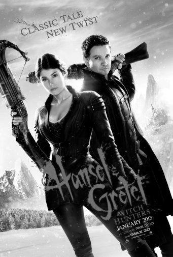 Hansel And Gretel black and white poster