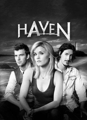 Haven black and white poster