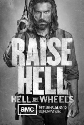 Hell On Wheels black and white poster