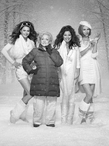 Hot In Cleveland black and white poster